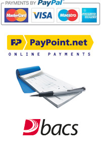 Payments by Paypal | Secured by Sagepay