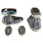 Art Deco Chrome Doorknobs Set SKI0S1