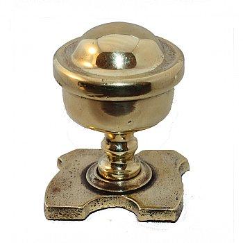 Victorian brass front door knobs