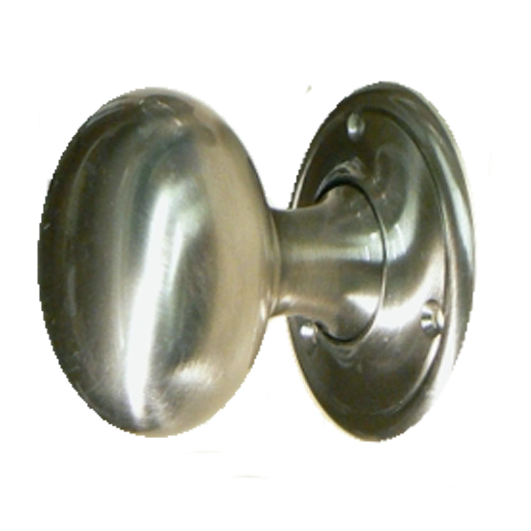 Camelot Brushed Chrome Doorknobs