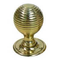Classic Brass Beehive Doorknobs