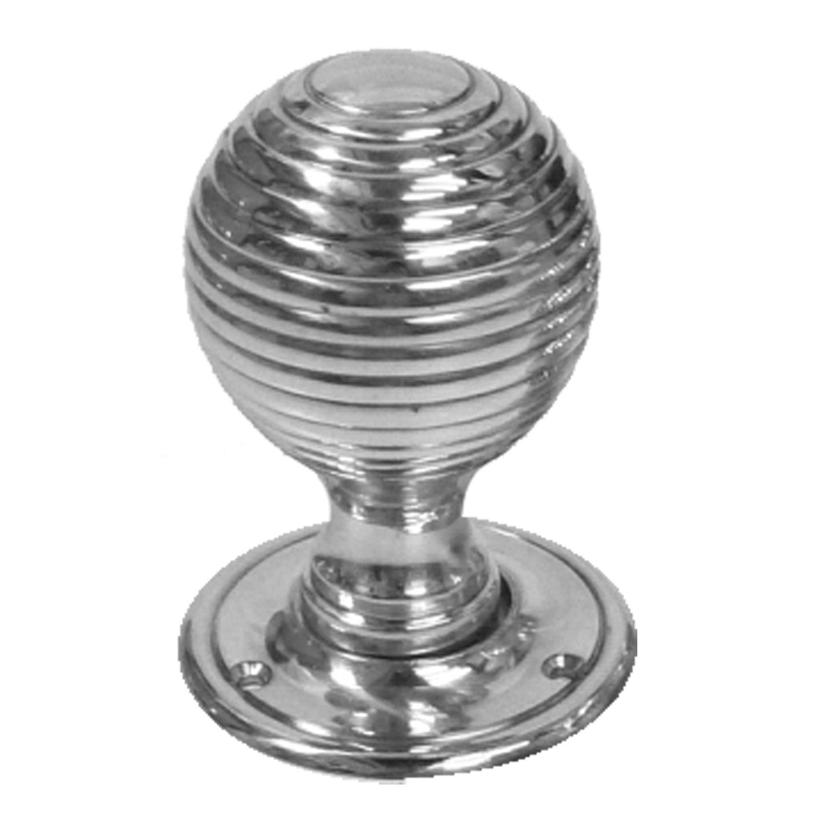 Classic Chrome Beehive Doorknobs