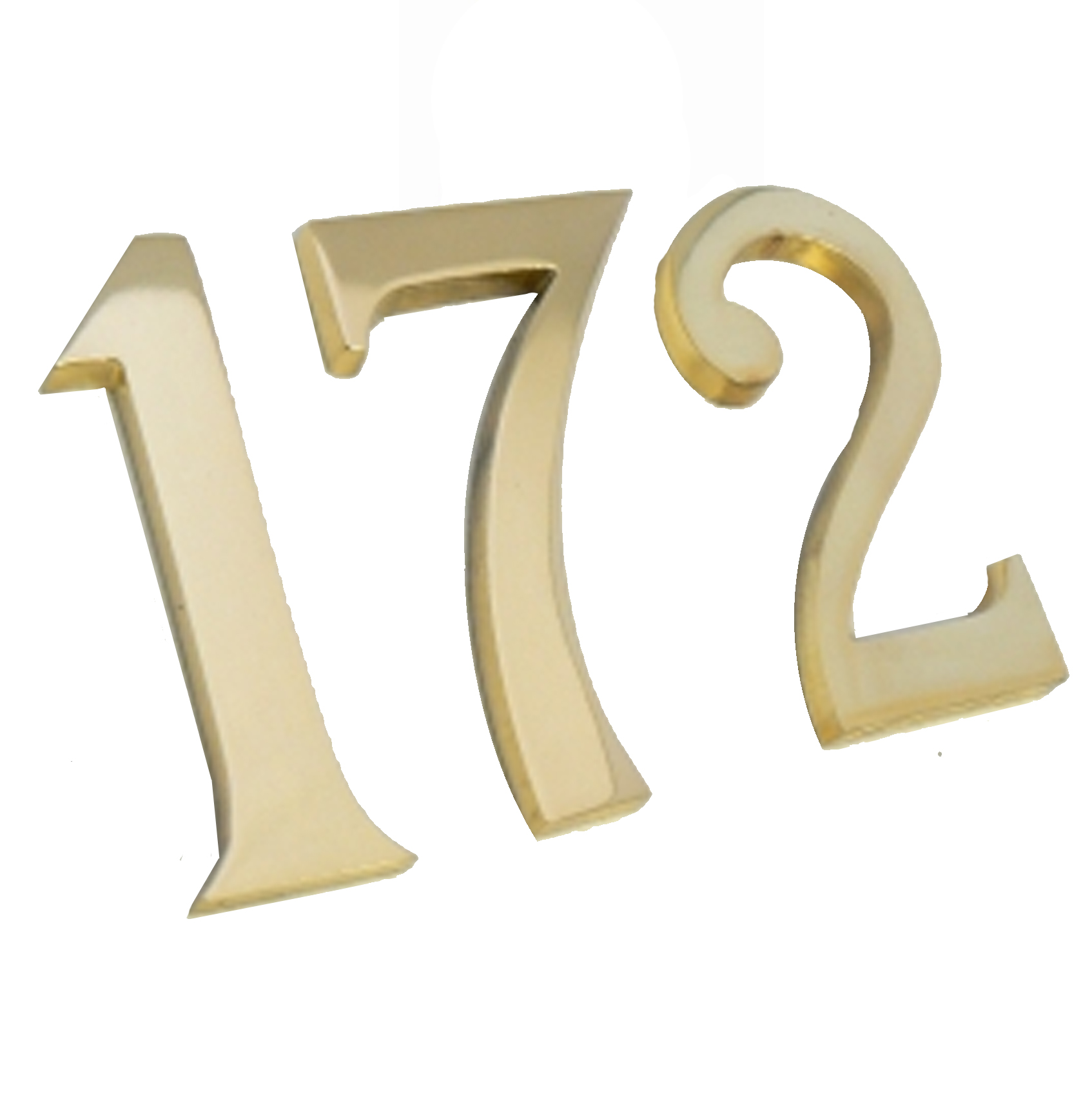 Brass Numbers For Front Door Traditional Style Brass