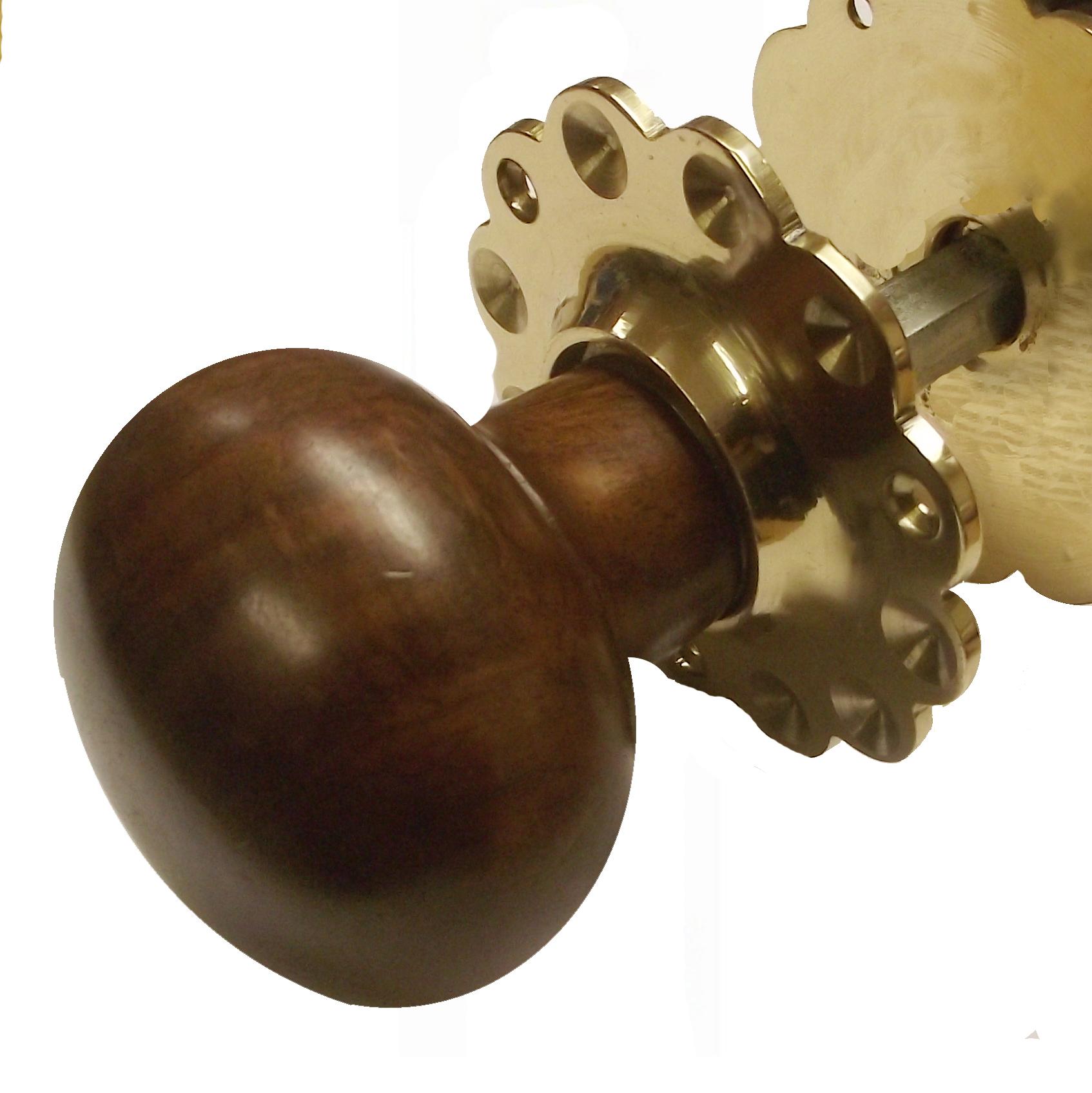 Snobsknobs oak finished wooden door knobs snobsknobs for Door knobs uk