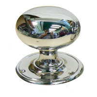 Pair Of Brighton Chrome Doorknobs