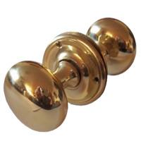 Pair Of Camelot Brass Door Knobs