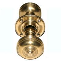 Pair Of Georgian Brass Rimlock Knobs