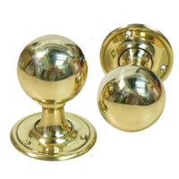 Pair Of Rialto Brass Doorknobs