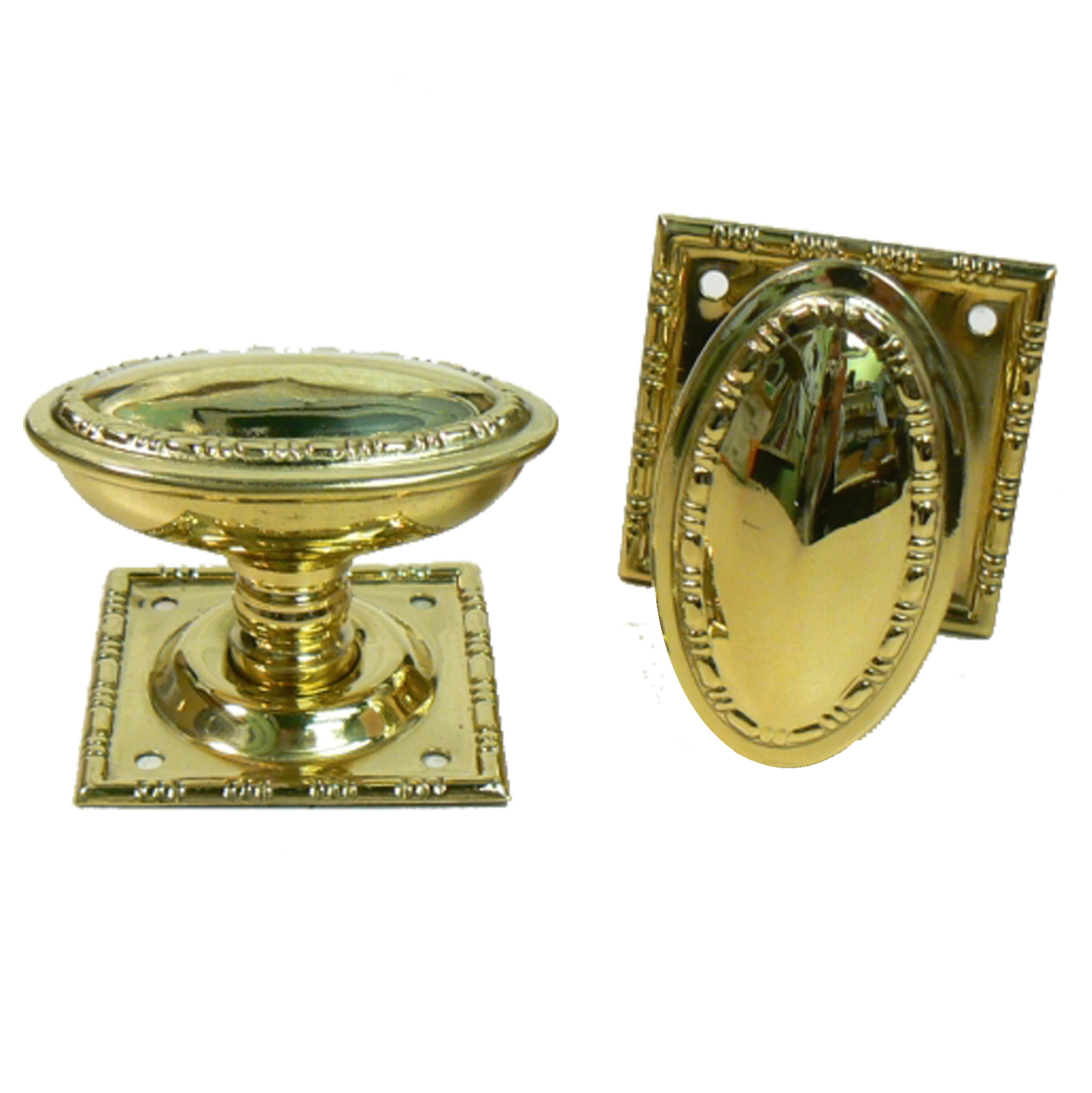 Parisian Oval Brass Mortice Knobs
