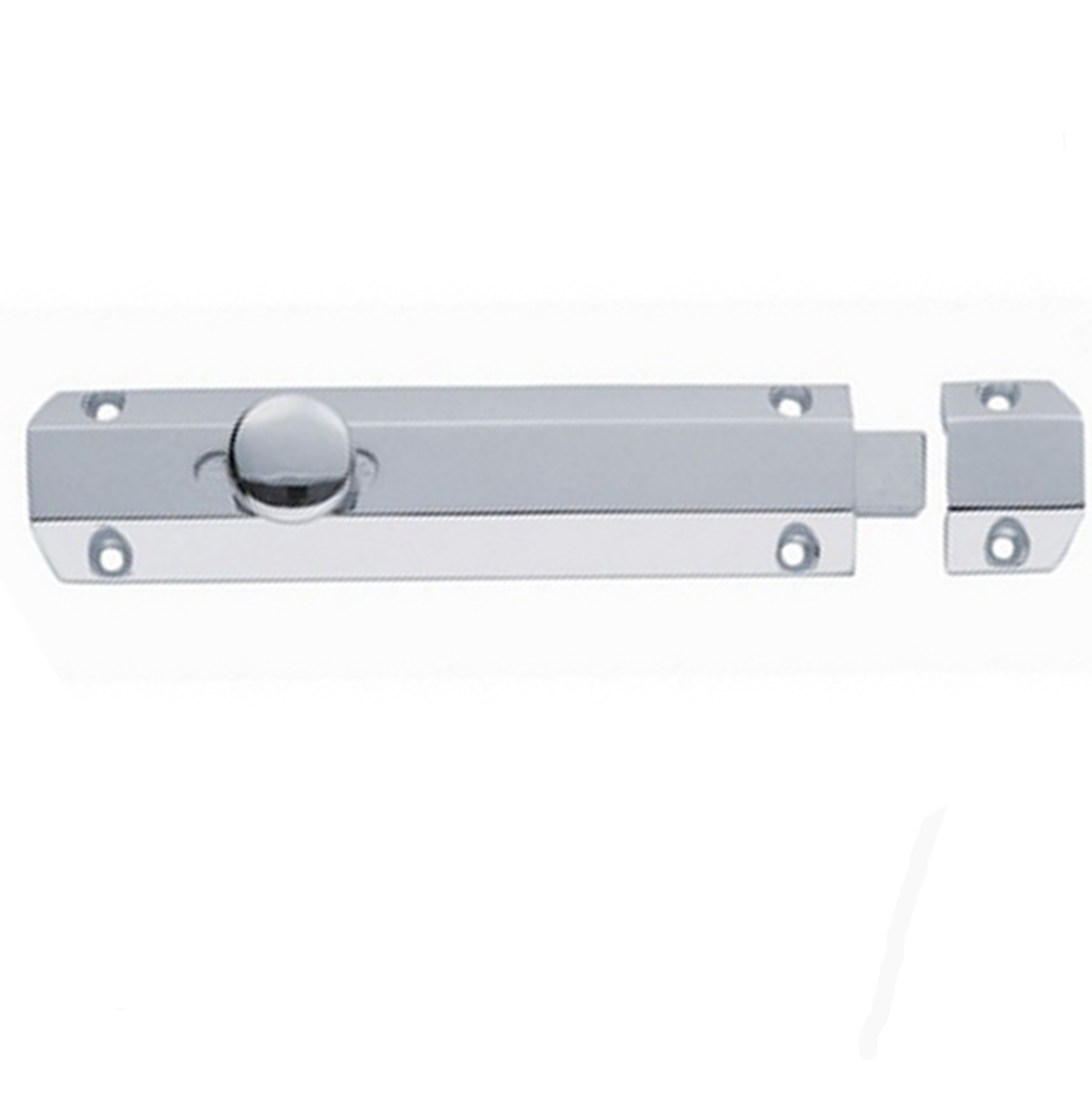 Satin Chrome Surface Bolt 10″