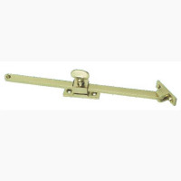 Slide & Lock Brass Casement Stay