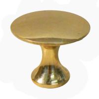 Brass Button Cupboard Knob