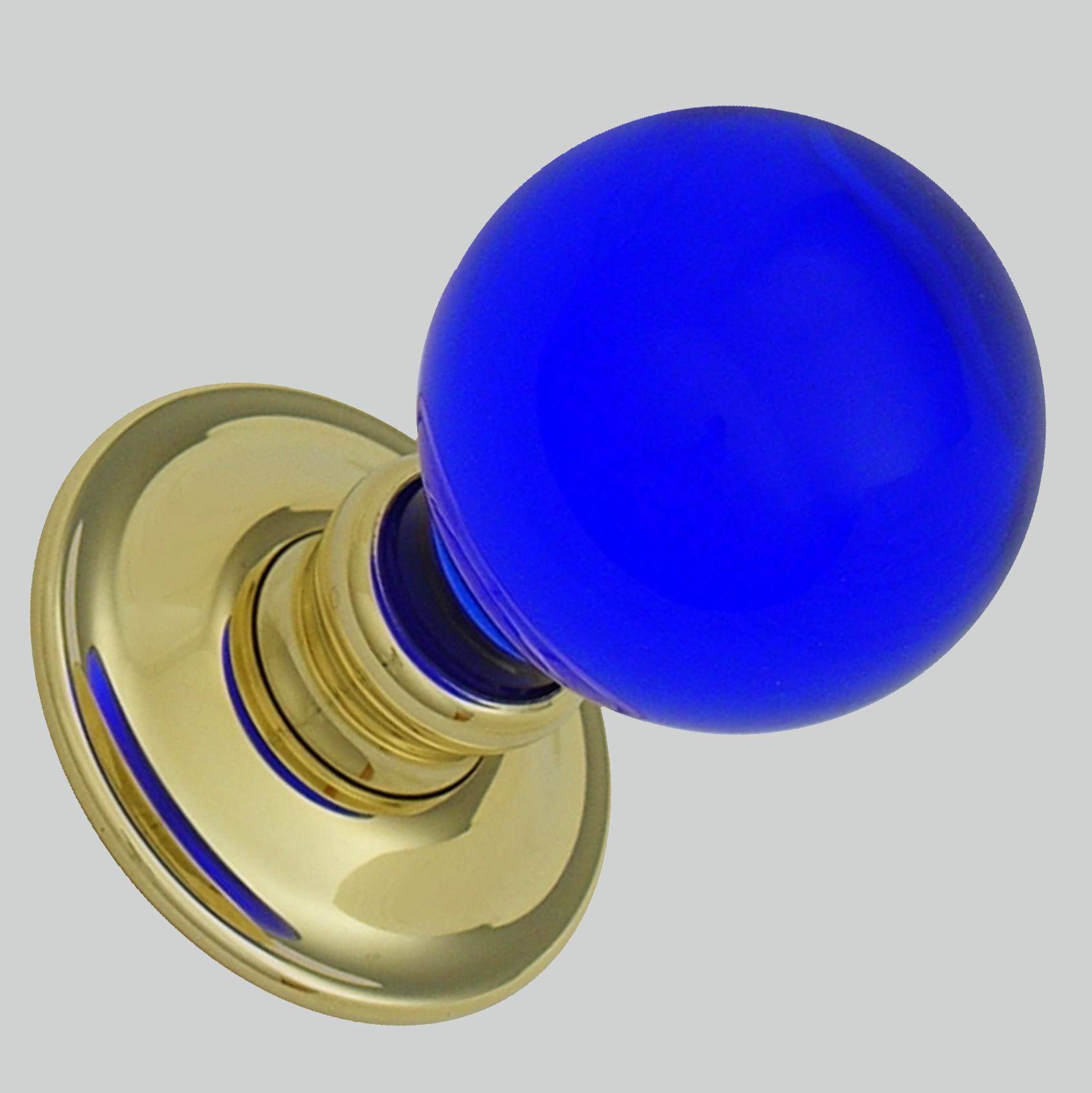 Cobalt Blue Balloon Glass Knobs