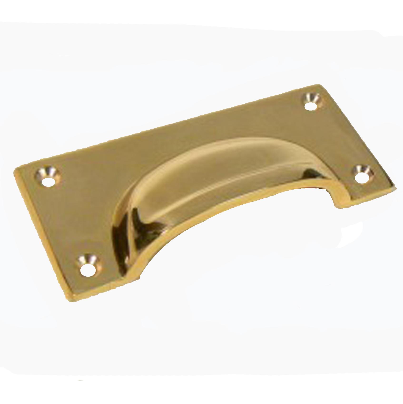 Cragside solid brass drawer pull