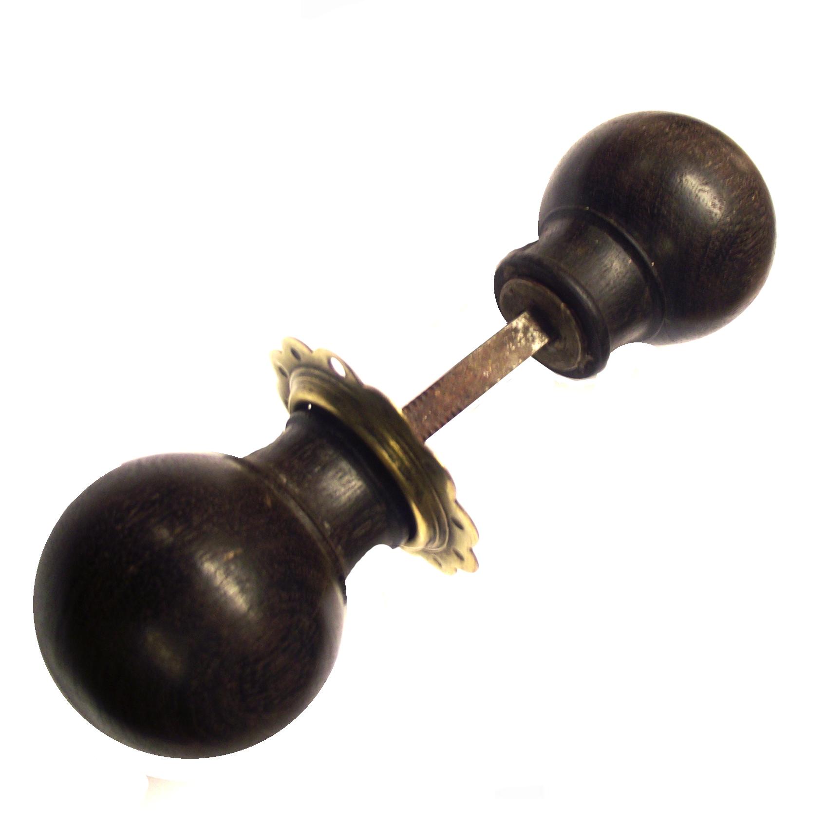 Dark Oak Victorian Rimlock Knobs
