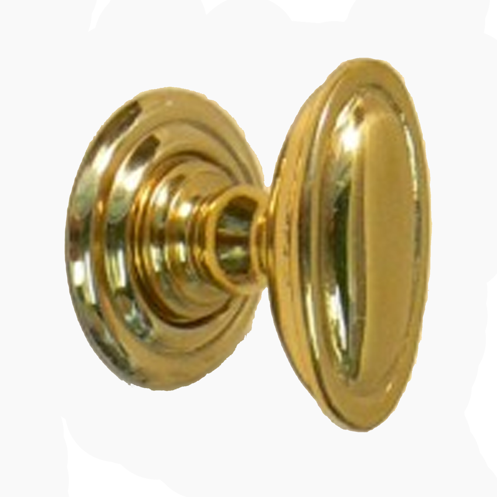 Snobsknobs Edwardian Oval Brass Cupboard Knob Snobsknobs