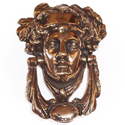 Victorian Brass Medusa Knocker APK306