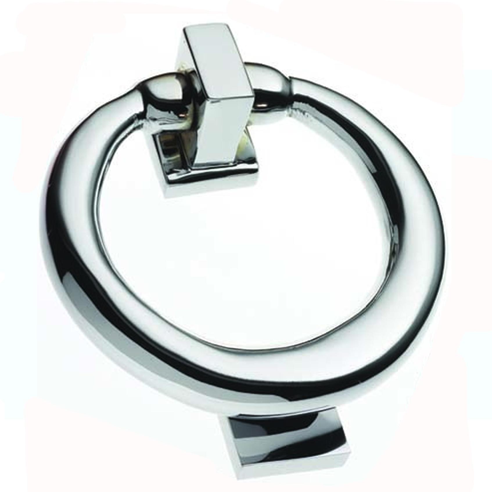 Melville chrome ring door knocker