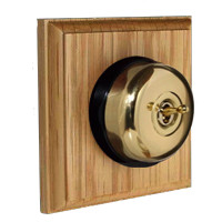 Polished Brass Domed Light Switch