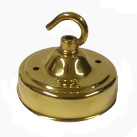 Single Deep Hook Brass Ceiling Rose