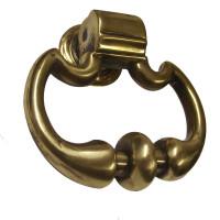 Victorian brass scallop shaped door knocker