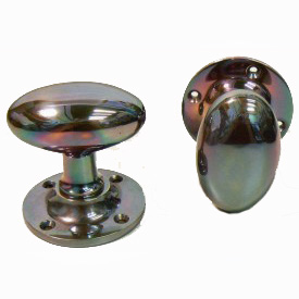 Clifton Solid Bron. Oval Mortice Knobs SR020