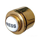 Polished Brass Bell Contact Button DB075