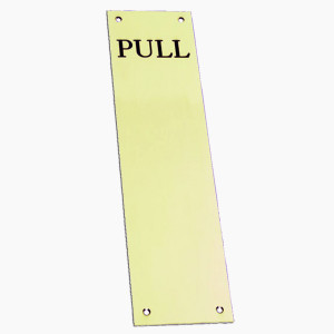 """""""Pull"""" Etched Brass Fingerplates"""