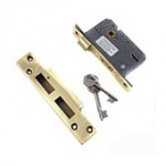 5 Lever Sash Lock - Brass Keep RL036