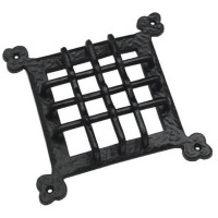 Antique black raised grille