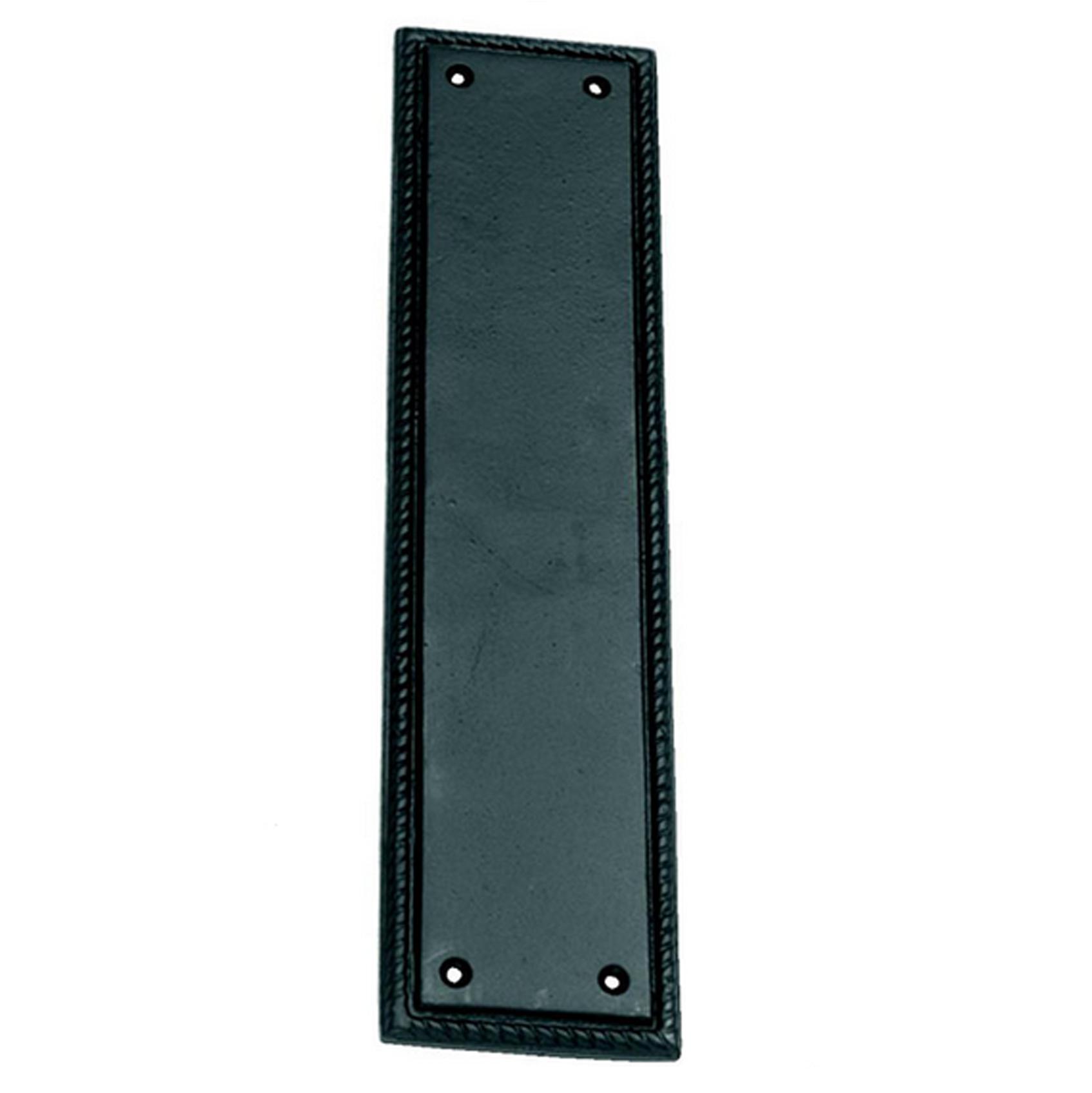 Black Iron Fingerplate