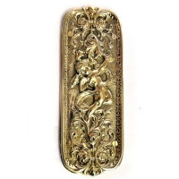 Cherub Brass Fingerplate