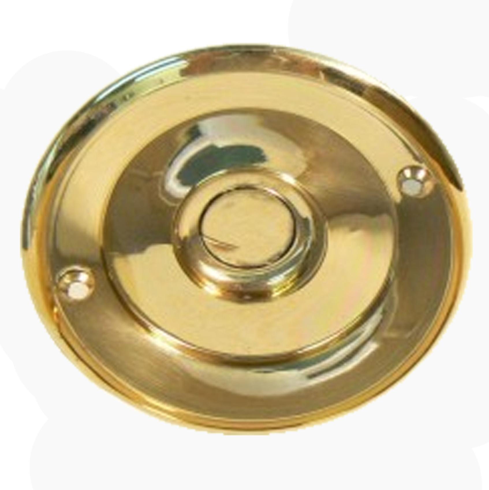 Waldorf Brass Doorbell 102mm Dia.