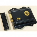 Black Flanged Rimlock With Snib RL016