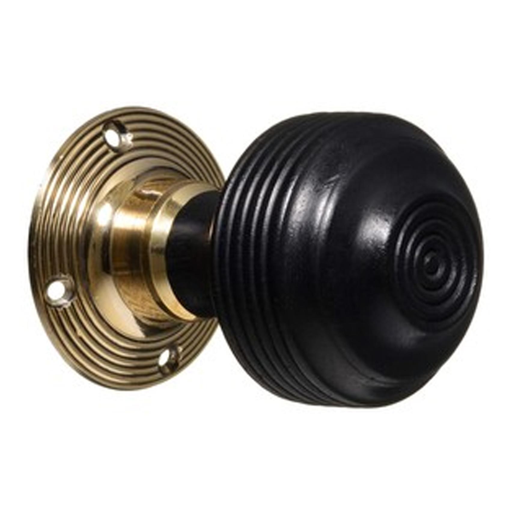 Georgian Ebonised & Brass Knobs