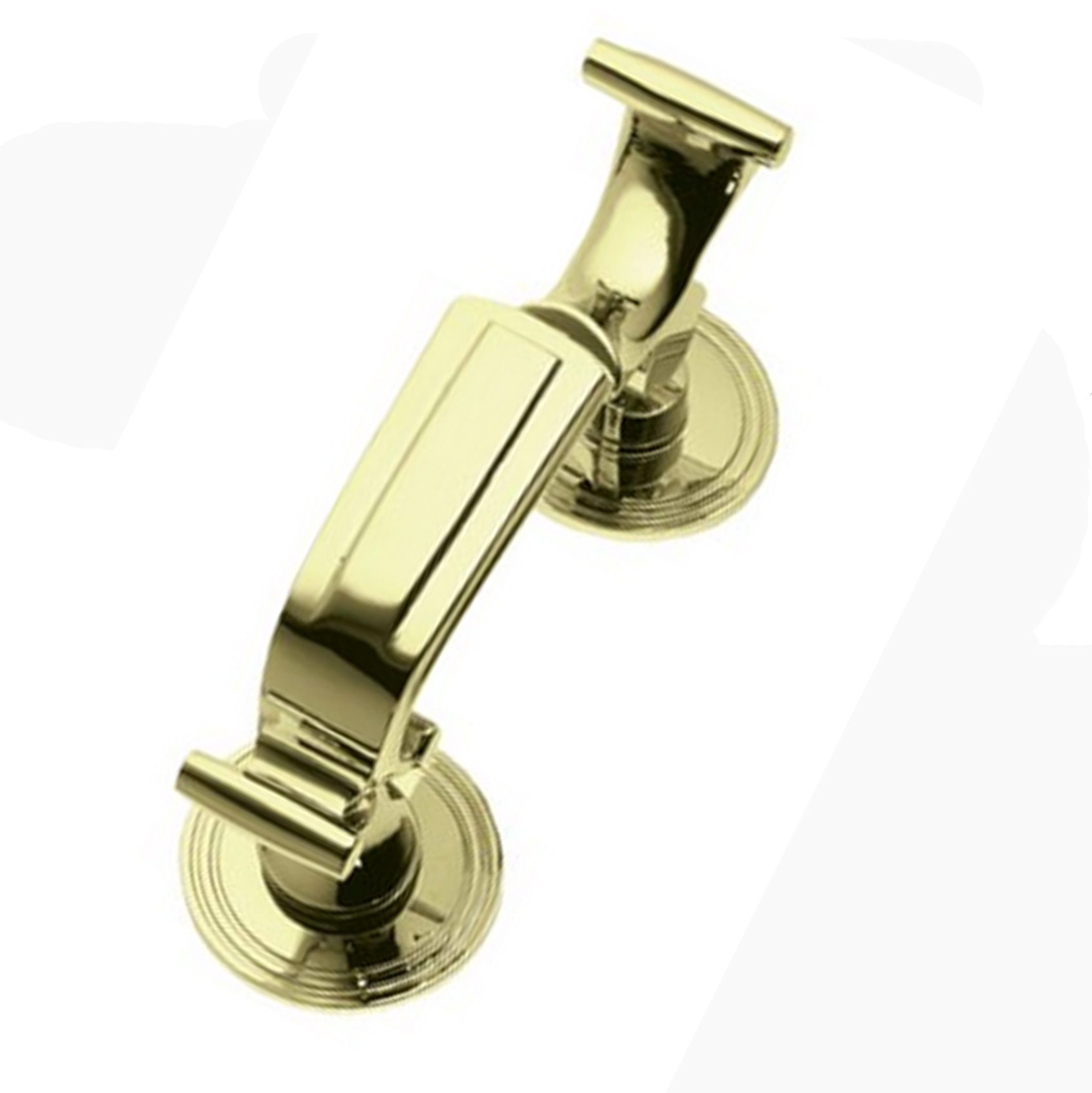 Victorian Brass Drs Knocker 6-