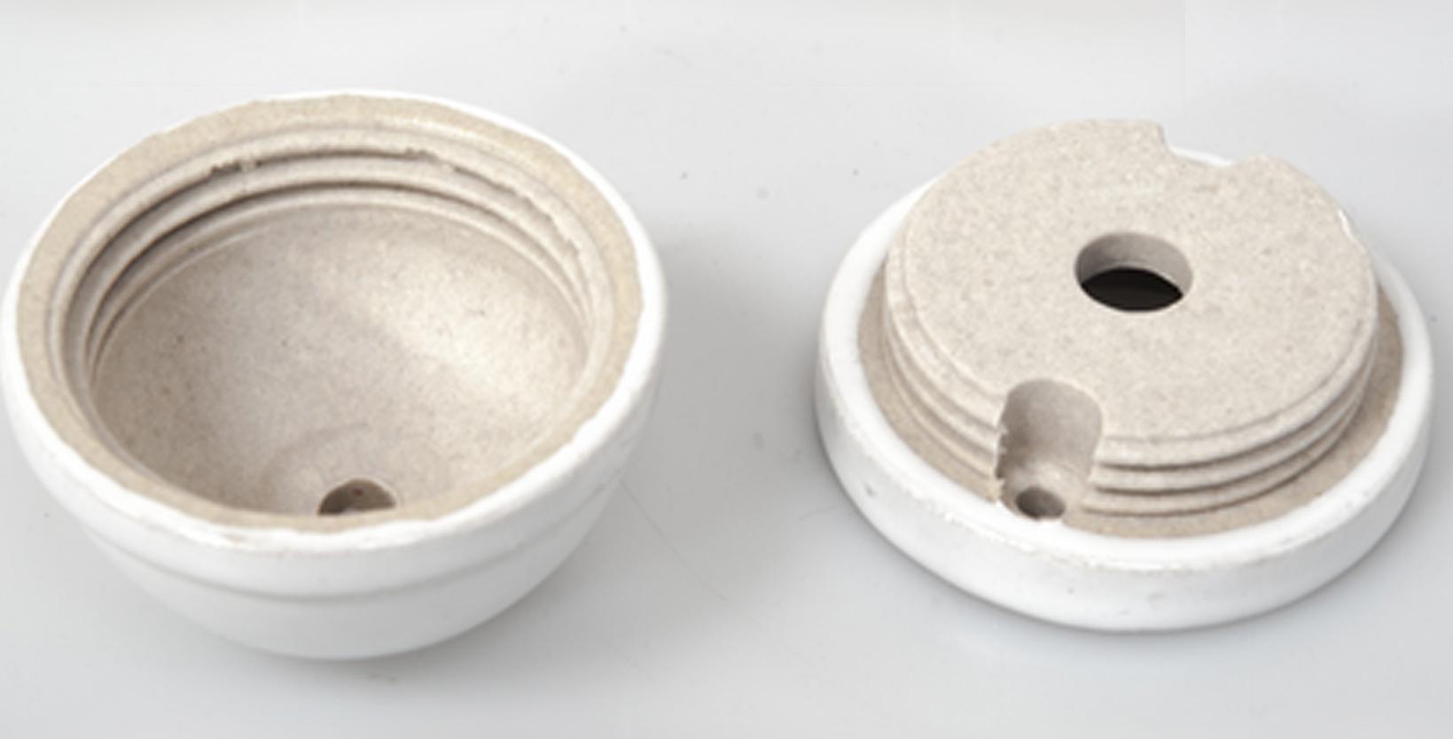 snobsknobs ceramic dome ceiling rose white - snobsknobs