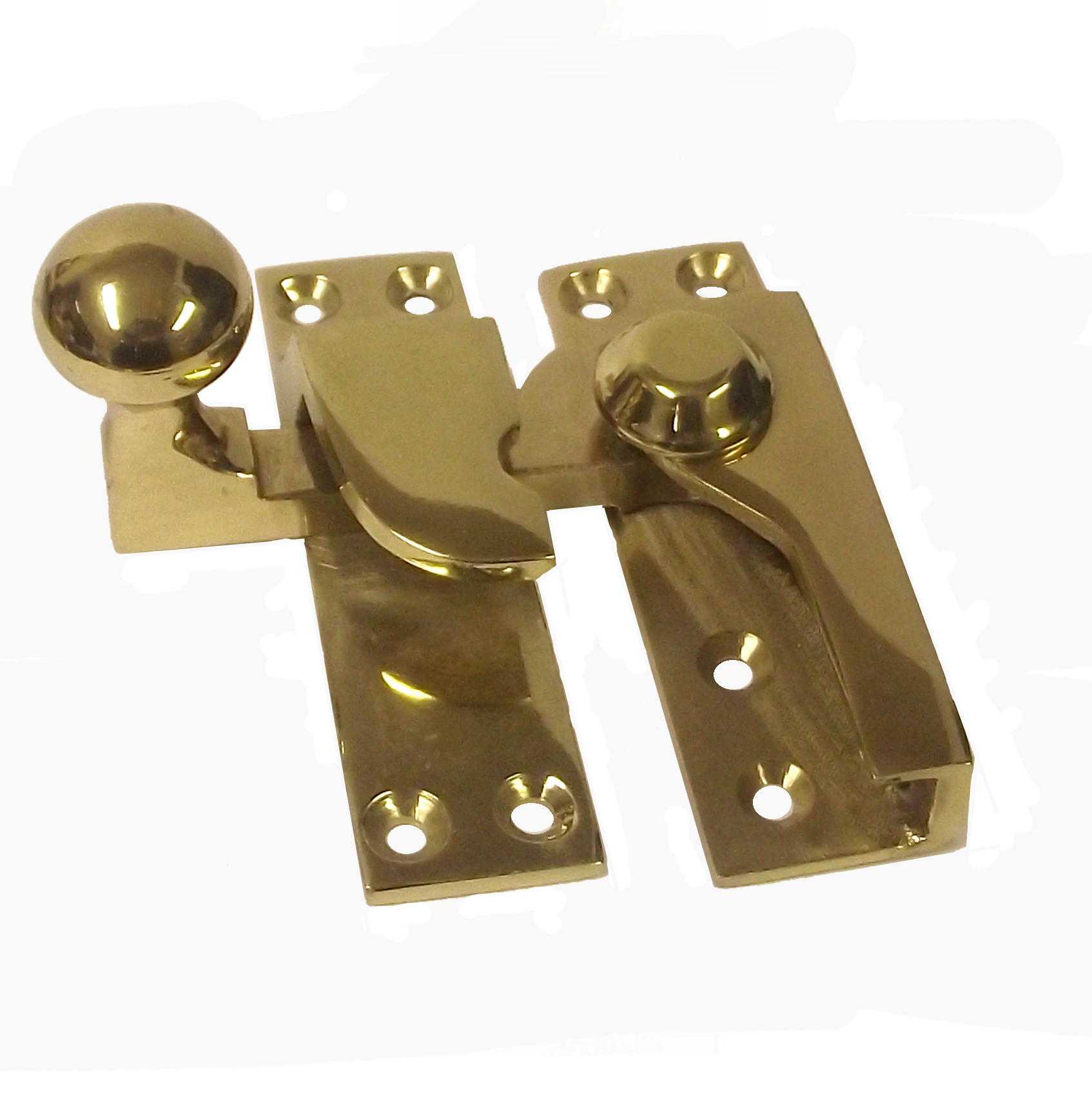 Brass Ball End Sash Window Catch