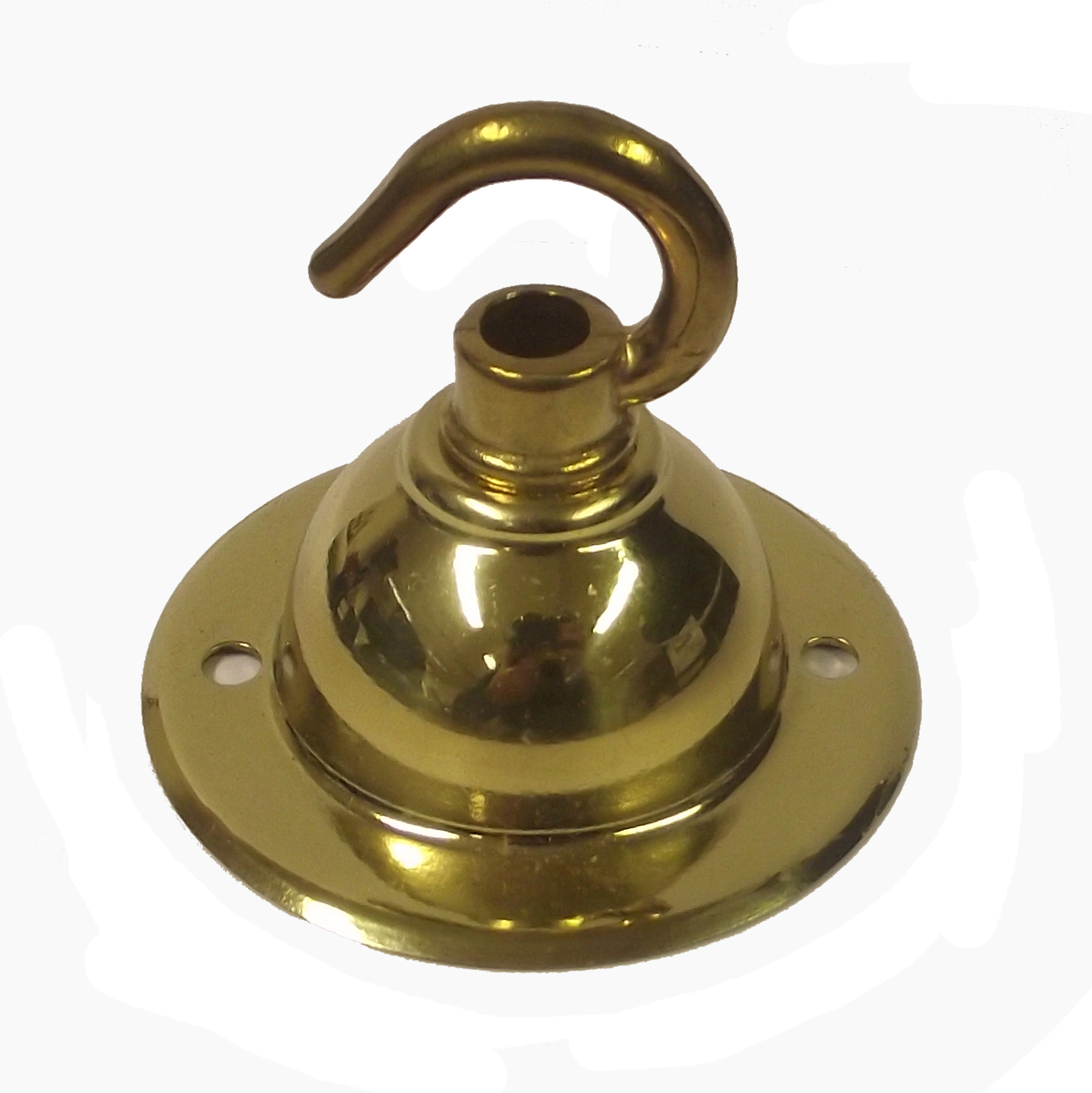 Single Hook Brass Ceiling Rose